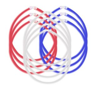Patriotic Red, White & Blue Glow Sticks 10ct