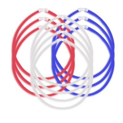 Red, White & Blue Glow Necklaces 10ct
