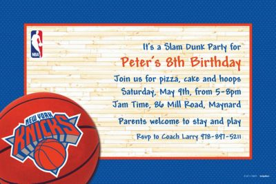 Custom New York Knicks Invitations