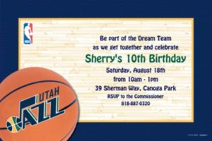 Custom Utah Jazz Invitations