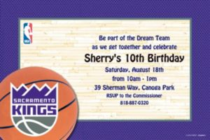 Custom Sacramento Kings Invitations