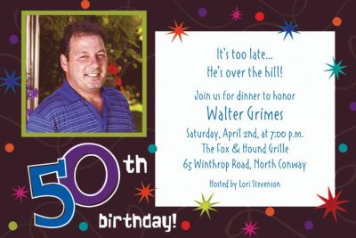 Custom The Party Continues 50th Birthday Photo Invitations