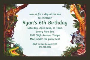 Custom Jungle Safari Invitations