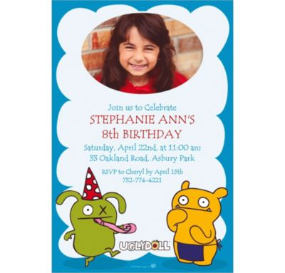 Custom Uglydoll Photo Invitations