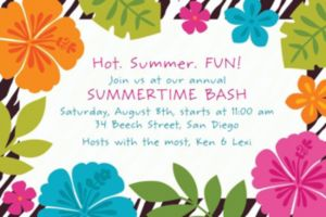 Custom Wild Isle Luau  Invitations