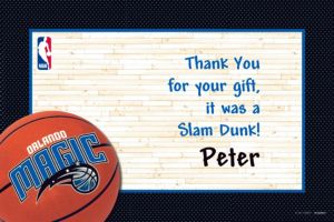 Custom Orlando Magic Thank You Notes