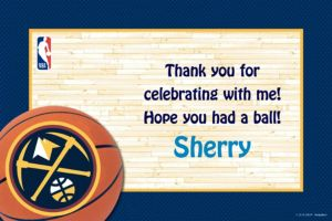 Custom Denver Nuggets Thank You Notes