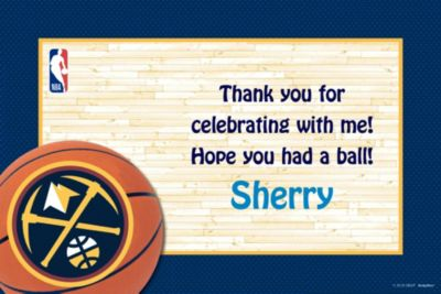 Denver Nuggets Custom Thank You Note