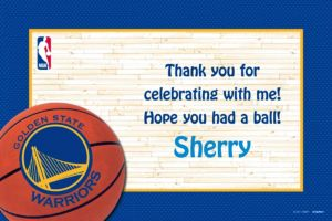 Custom Golden State Warriors Thank You Notes