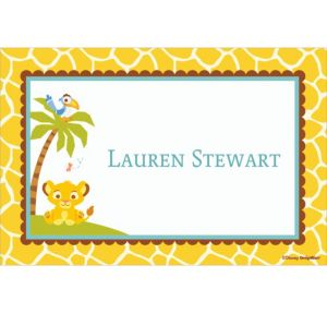 Custom Lion King Baby Shower Thank You Notes