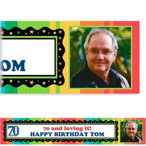 Custom A Year to Celebrate 70th Photo Banner 6ft