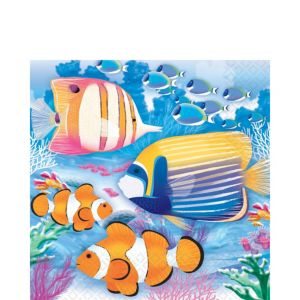 Tropical Summer Lunch Napkins 16ct