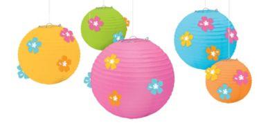 Hibiscus Paper Lanterns 5ct