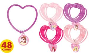 Disney Princess Bracelets with Charms 48ct