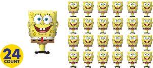 SpongeBob Erasers 24ct