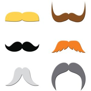 Dapper Moustache Drink Markers 6ct