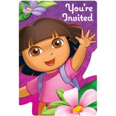 Dora the Explorer Invitations 8ct