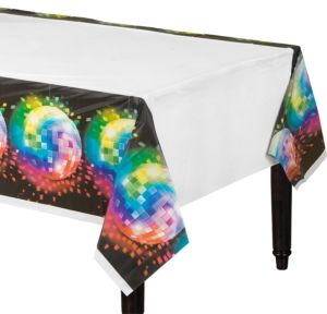 Disco Fever Plastic Table Cover