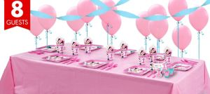 1st Birthday Minnie Mouse Basic Party Kit for 8 Guests