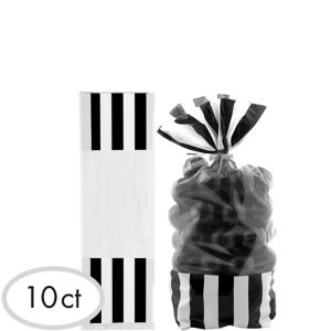 Black Striped Treat Bags 10ct