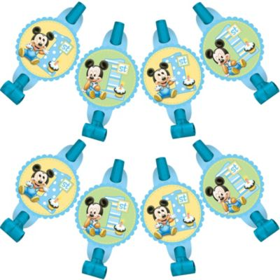 1st Birthday Mickey Mouse Blowouts 8ct
