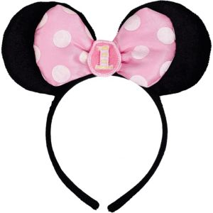 1st Birthday Minnie Mouse Headband