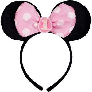 1st Birthday Minnie Mouse Headband