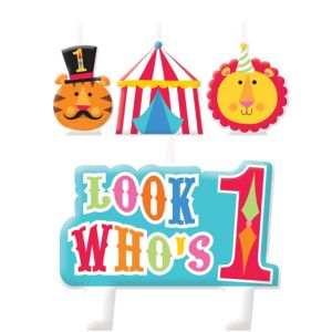 Fisher-Price Circus 1st Birthday Candles 4ct