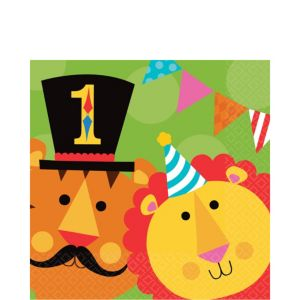 Fisher-Price 1st Birthday Circus Lunch Napkins 16ct