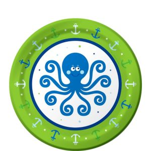 Ocean Preppy Dessert Plates 8ct