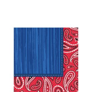 Bandana & Blue Jeans Beverage Napkins 16ct