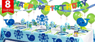 Ocean Preppy 1st Birthday Party Supplies Super Party Kit