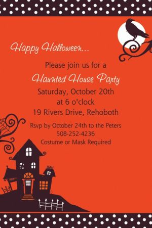 Custom Frightfully Fancy Halloween Invitations