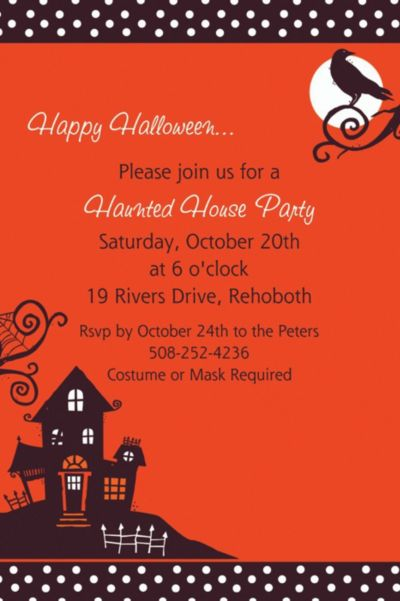 Frightfully Fancy Halloween Custom Invitation