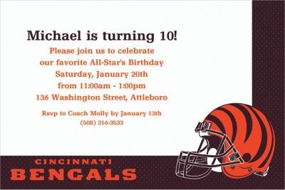 Custom Cincinnati Bengals Invitations