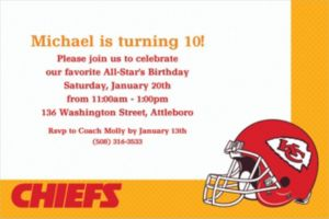 Custom Kansas City Chiefs Invitations