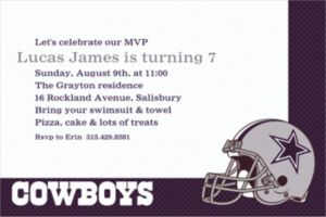 Custom Dallas Cowboys Invitations