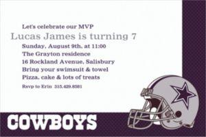 Custom Dallas Cowboys Invitations