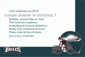 Custom Philadelphia Eagles Invitations