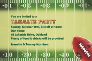 Custom NFL Drive Invitations
