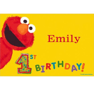 Custom Elmo 1st Birthday Thank You Notes
