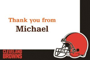 Custom Cleveland Browns Thank You Notes