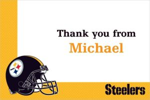 Custom Pittsburgh Steelers Thank You Notes
