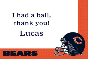Custom Chicago Bears Thank You Notes