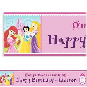 Custom Disney Princess 1st Birthday Banner 6ft