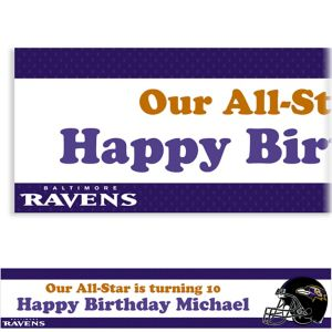 Custom Baltimore Ravens Banner 6ft