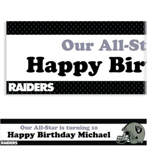 Custom Oakland Raiders Banner 6ft