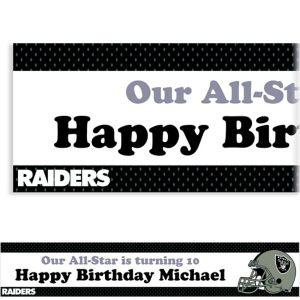 Custom Oakland Raiders Banner 6ft