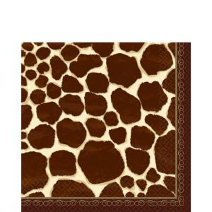 Giraffe Print Lunch Napkins 16ct