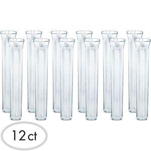 CLEAR Test Tube Shot Glasses 12ct